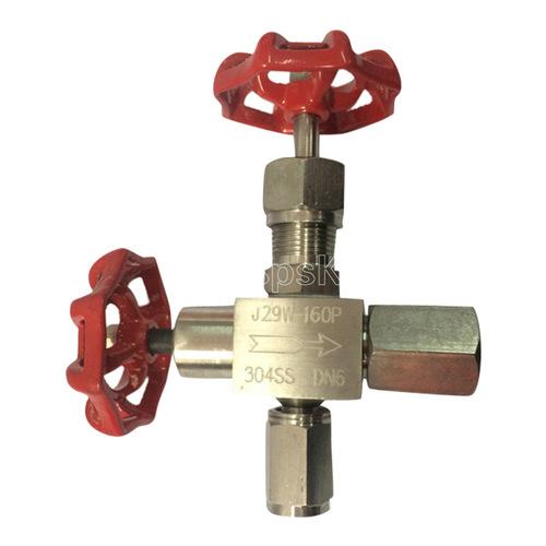 不锈钢针型阀_j29w-160p压力表针阀304 316压力表针型阀dn8 10 15 20 3分