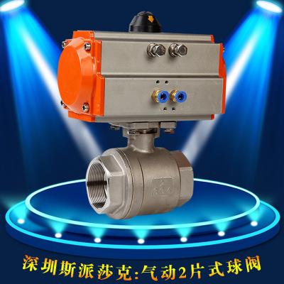 304一片式高温高压G内螺纹丝扣气动球阀Q911F-16C/P2寸DN15 20 25
